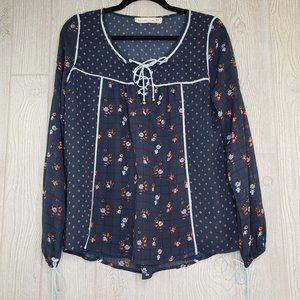 Abercrombie & Fitch Floral Panel Shirt Tunic XS